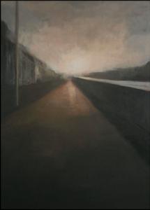 Dans la lumière, Acrylique sur carton, 116x73 cm, 2011