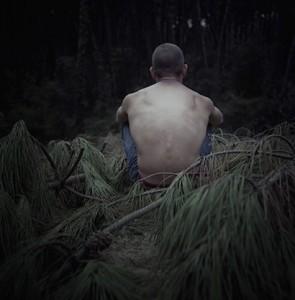 Conversation II – Lisandru #1, Photographie argentique, 40 x 40 cm, 2015